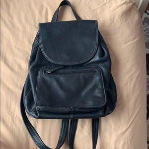 black leather TRINANELLO mini backpack